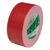 【ガムテープ】カラー布粘着テープ 102N1-50 0.30mm厚 50mm×25m 赤 ニチバン 1巻