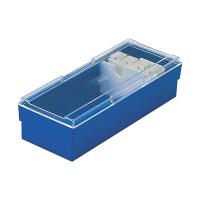 セキセイ ネームカードボックス ブルー CB-700-10 (直送品)