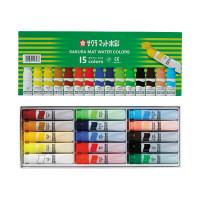 サクラクレパス マット水彩ポリ 15色 MW15PE (直送品)