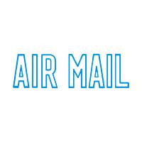 シヤチハタ Xスタンパー 「AIR MAIL」 藍色 XBN-10013 (直送品)