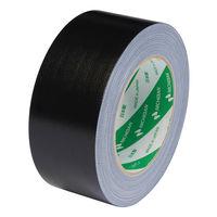 【ガムテープ】カラー布粘着テープ 102N6-50 0.30mm厚 50mm×25m 黒 ニチバン 1巻