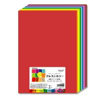 長門屋商店 いろいろがようしクレヨンカラーA4 10色アソート ナ-CR902 1パック(20枚入)