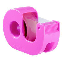 セロテープ カッター付小巻 ピンク