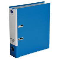レバー式アーチファイル A4タテ 背幅80mm 3冊 ブルー SGLAF8BL ハピラ