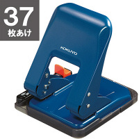 コクヨ 2穴パンチ ラクアケ 37枚あけ ブルー PN-G37B