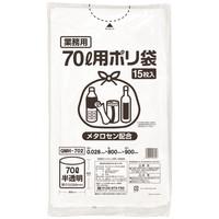 伊藤忠リーテイルリンク ゴミ袋(メタロセン配合) 白半透明70L GMH-702 1パック(15枚入)