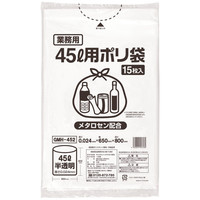 伊藤忠リーテイルリンク ゴミ袋(メタロセン配合) 白半透明45L GMH-452 1パック(15枚入)