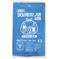 伊藤忠リーテイルリンク ゴミ袋(メタロセン配合)青90L GMBU-902 1パック(15枚入)