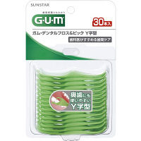 GUM(ガム) デンタルフロス&ピック Y字型 1個(30本入) SUNSTAR(サンスター) デンタルフロス