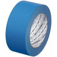 【ガムテープ】「現場のチカラ」 カラークラフトテープ 0.14mm厚 50mm×50m 青 アスクル 1巻