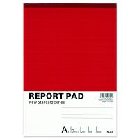 プラス レポート用紙 B5 A罫 RE-050A 76831 1セット(5冊入)
