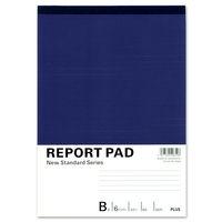 プラス レポート用紙 B5 B罫 RE-050B 76831 1セット(5冊)