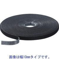 クラレファスニング 「現場のチカラ」 マジックバンド 幅20mm×長さ10m 黒 L8913L 1巻
