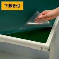 プラス 抗菌デスクマット OAタイプ 小(幅990×690mm) マット厚1.5mm 下敷き付 41086