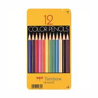 トンボ鉛筆 色鉛筆 12色 缶入 CB-NQ12C (直送品)
