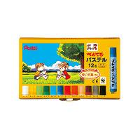 ぺんてる パステル 12色セット GHSR-12 (直送品)