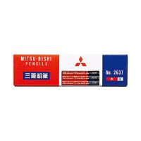 三菱鉛筆(uni) 色鉛筆 朱藍7:3 K2637 1箱(12本入) (直送品)