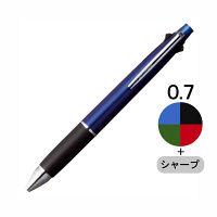 三菱鉛筆(uni) ジェットストリーム多機能ボールペン 4色+シャープ 0.7mm MSXE5-1000-07 ネイビー軸  (直送品)