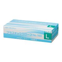 共和 ミリオン プラスチックグローブ NO.160 L 粉なし(パウダーフリー) LH-160-L 1箱(100枚入) (使い捨て手袋)