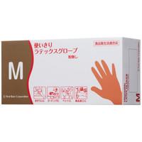 ファーストレイト 使い切りラテックスグローブ M 粉なし(パウダーフリー) 1箱(100枚入)