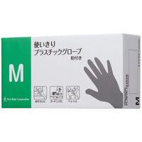 ファーストレイト 使い切りプラスチックグローブ M 粉付き(パウダーイン) 1箱(100枚入)