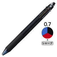 三菱鉛筆(uni) ジェットストリーム多機能ボールペン 3色+シャープ 0.7mm MSXE4-600-07 透明ブラック軸 1本