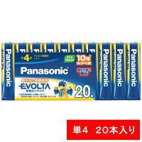 パナソニック アルカリ乾電池 エボルタ 単4形 LR03EJ/20SW 1パック(20本入)