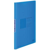 コクヨ クリヤーブック<カラータグ>(固定式) A4タテ20ポケット ブルー CTラ-20B 1冊