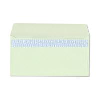 ハート 透けない封筒 カラー テープ付 洋長3 グリーン 100枚