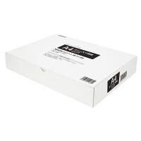 小林クリエイト 領収証用紙 A4ミシン目入り 2穴 白色 無地 1箱(500枚入)