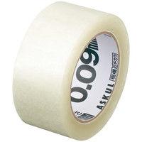 「現場のチカラ」 OPPテープ 0.09mm厚 48mm×50m 透明 アスクル 1巻