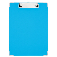 プラス 用箋挟 PPシート貼り A4タテ ブルー 82551 1枚