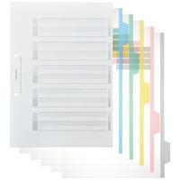 コクヨ カラー仕切カード(PP・ファイル用) A4タテ5山 シキ-P30 1セット(25組:5組入×5袋)