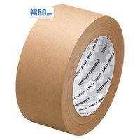 【ガムテープ】「現場のチカラ」 油性インクで文字が書けるクラフトテープ 0.14mm厚 50mm×50m 茶 アスクル 1セット(50巻入×10箱)