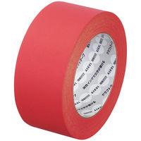 【ガムテープ】「現場のチカラ」 カラークラフトテープ 0.14mm厚 50mm×50m 赤 アスクル 1セット(5巻入)