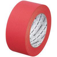 【ガムテープ】「現場のチカラ」 カラークラフトテープ 0.14mm厚 50mm×50m 赤 アスクル 1セット(50巻入×3箱)