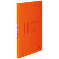 コクヨ クリヤーブック<カラータグ>(固定式) A4タテ20ポケット オレンジ CTラ-20YR 1箱(10冊入)