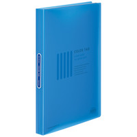 コクヨ クリヤーブック<カラータグ>(固定式) A4タテ40ポケット ブルー CTラ-40B 1箱(10冊入)