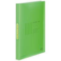コクヨ クリヤーブック<カラータグ>(固定式) A4タテ40ポケット ライトグリーン CTラ-40LG 1箱(10冊入)