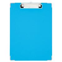 プラス 用箋挟 PPシート貼り A4タテ ブルー 82551 1箱(10枚入)