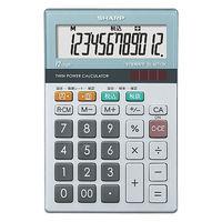 シャープ 12桁小型卓上電卓 EL-M712-K 1セット(5個入)