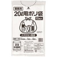 伊藤忠 伊藤忠リーテイルリンク ゴミ袋(メタロセン配合) 白半透明20L GMH-202 1箱(300枚:15枚×20パック)