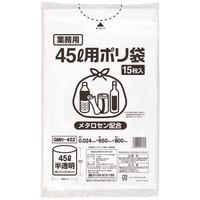 伊藤忠リーテイルリンク ゴミ袋(メタロセン配合) 白半透明45L GMH-452 1箱(300枚入:15枚入×20パック)