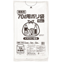 伊藤忠リーテイルリンク ゴミ袋(メタロセン配合)半透明70L GMH-702 1箱(300枚入:15枚入×20パック)