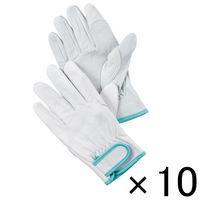 ミタニコーポレーション 「現場のチカラ」 革手袋ブタレンジャーアテ付き L 1セット(10双)