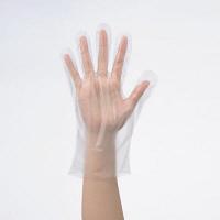 「現場のチカラ」 使いきりHDポリエチレン手袋 M 片エンボス 1セット(1000枚:100枚入×10袋) ファーストレイト