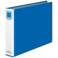 コクヨ リングファイル貼り表紙タイプ 丸型2穴 A4ヨコ 背幅56mm 4冊 青 フ-445B