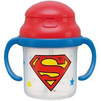 スーパーマン シリコンストロー両手マグ