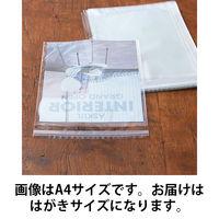 「現場のチカラ」 OPP袋(シール付) フタ・シール付き はがき用 1セット(500枚:100枚入×5袋) アスクル