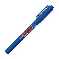 プロッキー 水性ペン 細・極細ツイン 青 10本 三菱鉛筆 uni